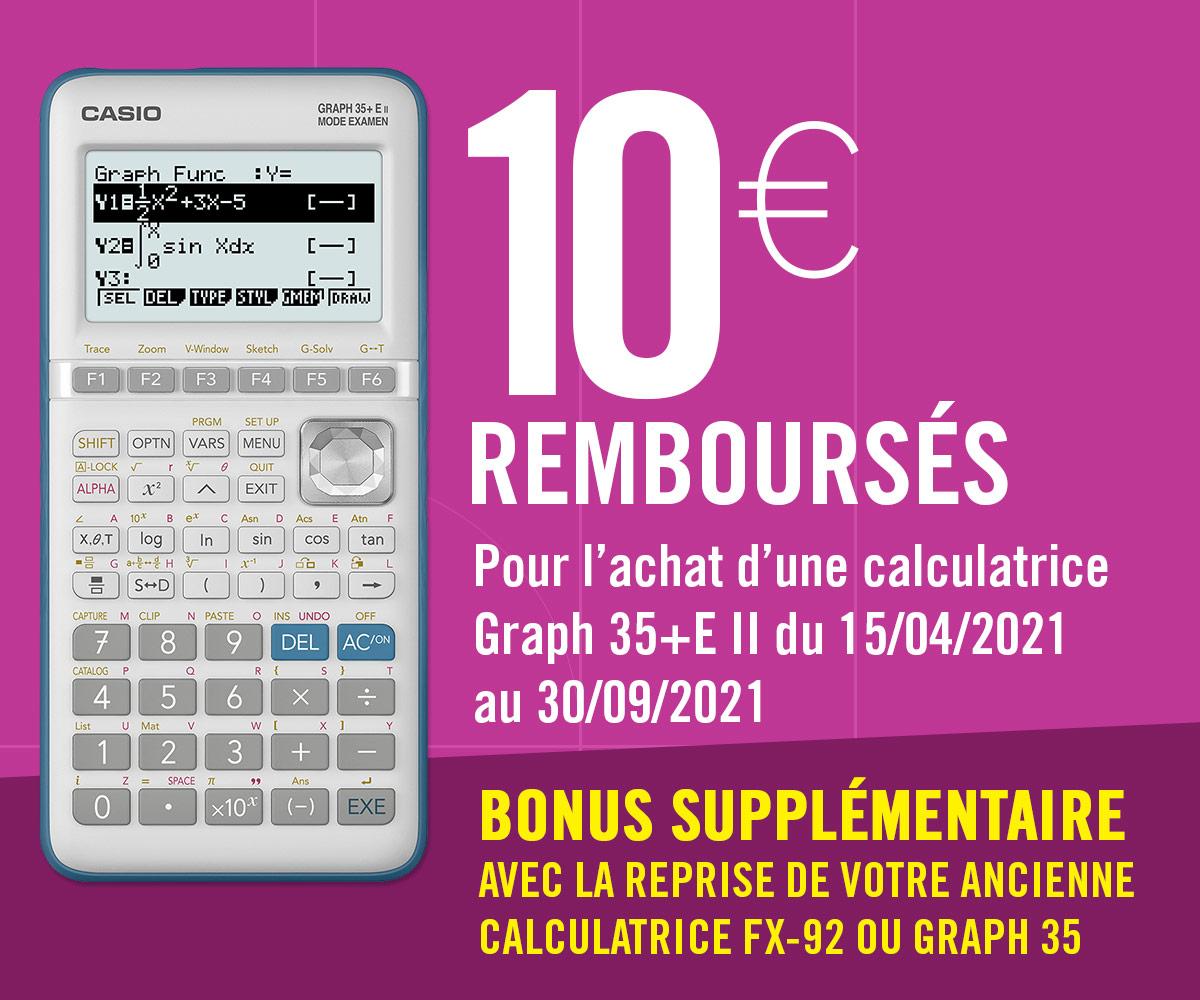Offre de reprise Casio 10 euros