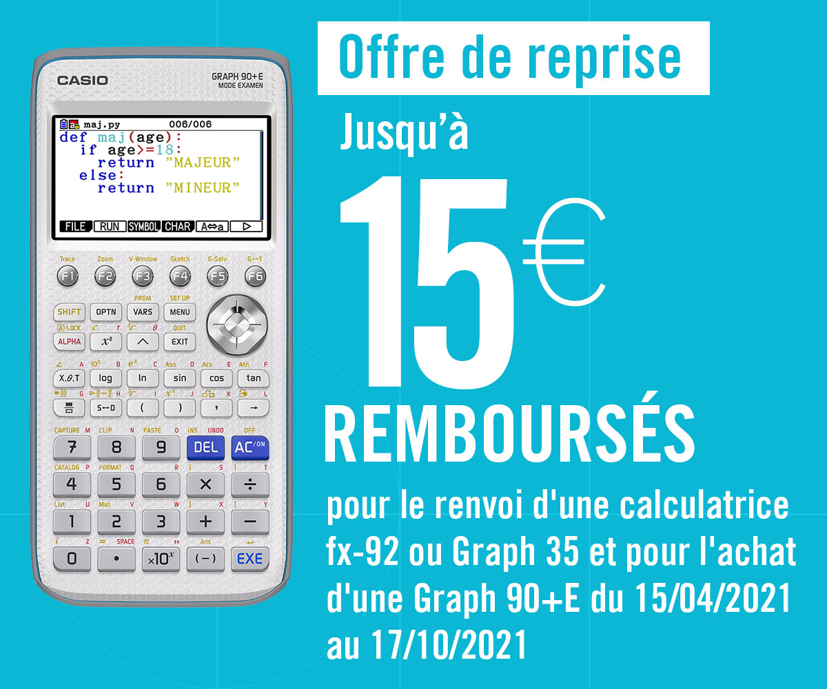 Offre de reprise Casio 15 euros